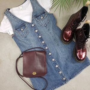 Revolve Tularosa Zoe Denim Dress Button Down USA